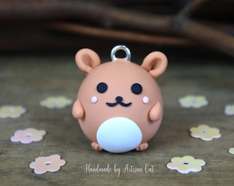 Cute Hamster (Ginger) - Polymer Clay Charm/Necklace