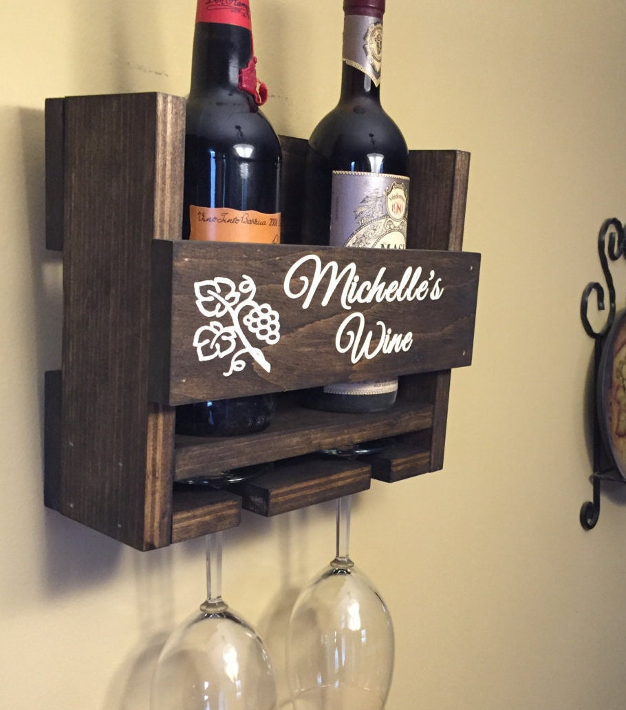Personalized Wedding Gifts Canada: Wedding Gift Wine Rack Primitive Wine Rack Personalized