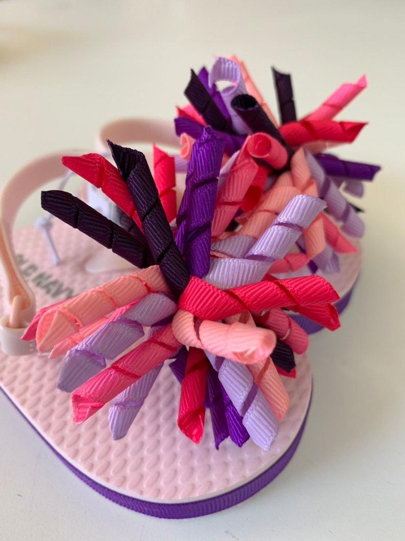 Pink and Purple Burst Infant Flip Flops