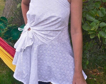 Tunic Orchid in broderie anglaise