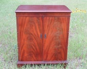 Antique Magnavox record music player turntable turn table stereo wood cabinet Faux front doors easy open soft close lid open back Vintage