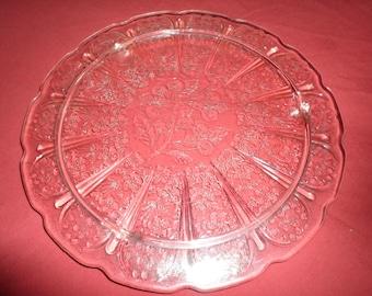 Antique Mayfair Rose Pink Depression Glass Cake Plate & Pink depression glass cake plate | Etsy