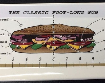 The Classic Foot-Long Sub Dish
