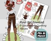 Steampunk Fashion Paper D...