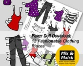 Paper Doll Fashions to Pr...