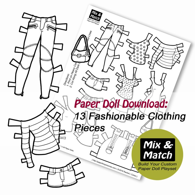 image relating to Paper Doll Clothes Printable identified as Paper Doll Model Coloring Website page- Paper Doll Obtain- Printable Paper Doll Outfits- Coloring Website page- Gown Up Doll- Paper Doll Towards Print