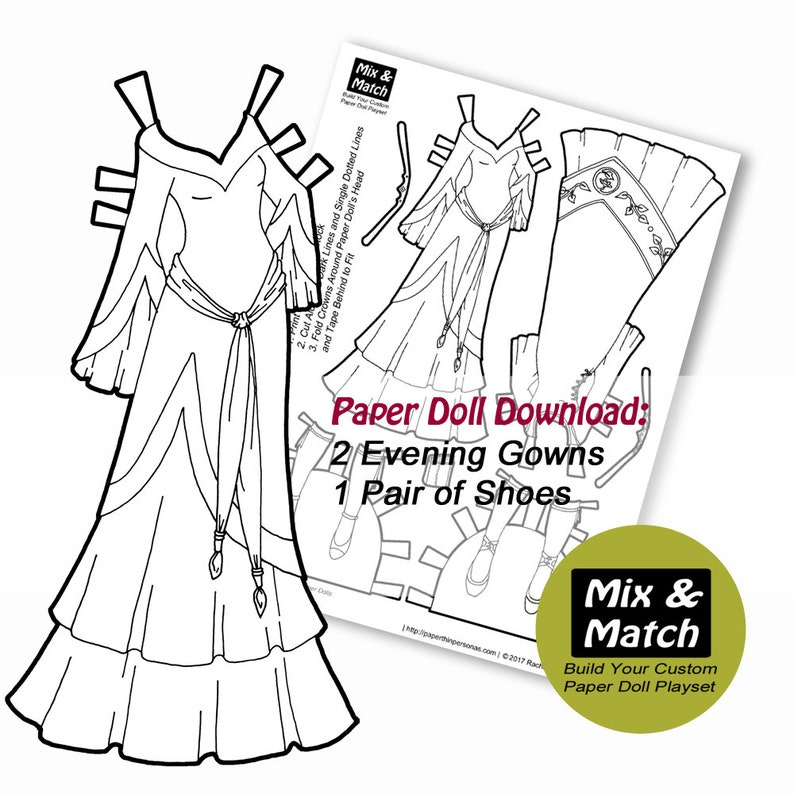 image about Printable Paper Doll referred to as Myth Princess Printable Paper Doll- Blend Game Electronic Paper Doll Coloring Webpage- Gown Up Doll- Medieval Myth Paper Doll Down load