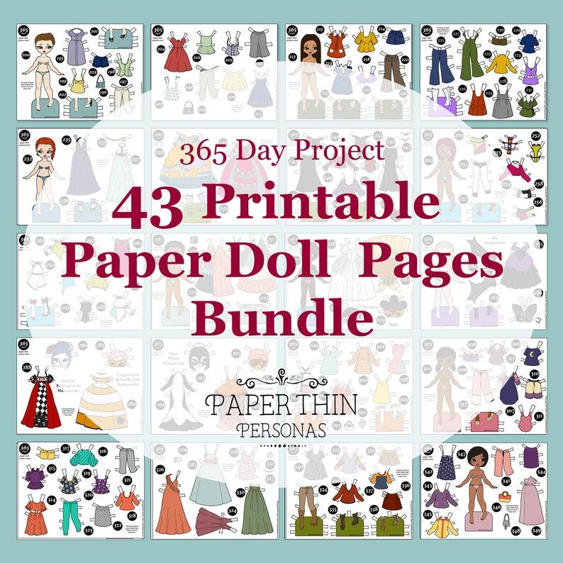 Super Mega Bundle of Paper Doll Printables Indoor Activities image 0