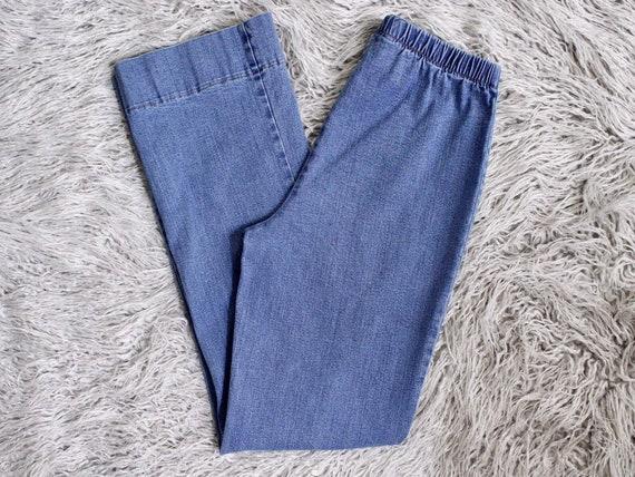"Retro 70's Blue Flare Jeans • 6/30"""