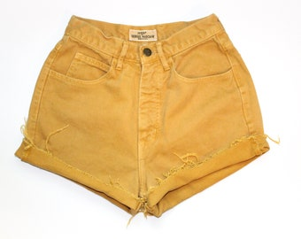 Guess Vintage Yellow Denim Shorts