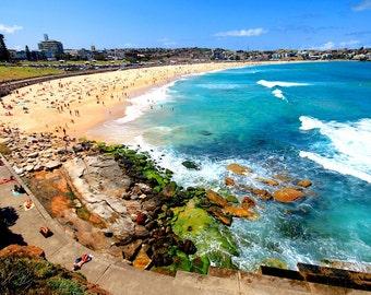 Bondi Beach Photography, Summer Days, Bondi Beach,Fine Art photography, Bondi beach photos, Sydney Australia,Beach Photos Australia,Blue Sea