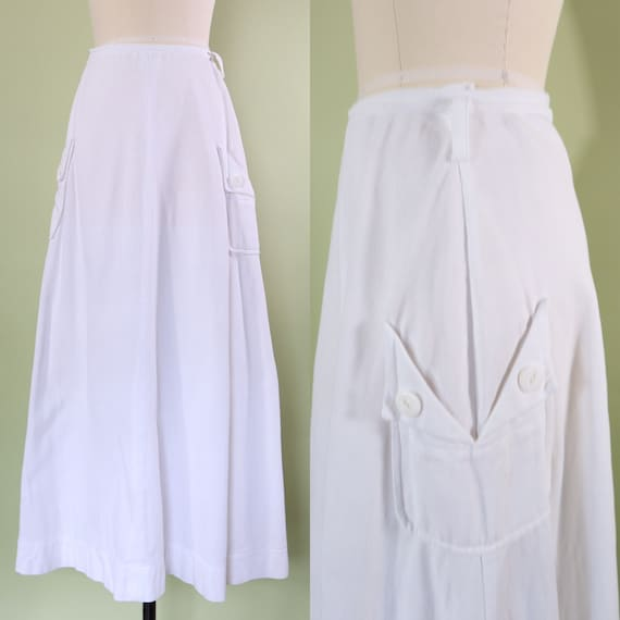 1910s Edwardian skirt •  antique • cotton • sports