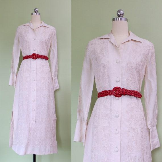 1960s dress • maxi tent dress • bohemian • Barong
