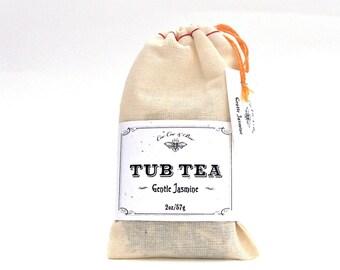Jasmine Tub Tea ~ Bath Tea lightly scented with real Jasmine and Jasmine Flowers