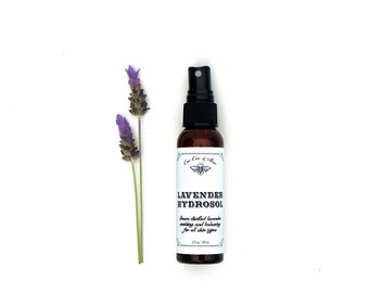Calming Lavender Hydrosol Face Toner ~ 2oz Spray ~ hydrate and balance oily, sensitive, inflamed, irritable skin ~ natural skincare routine