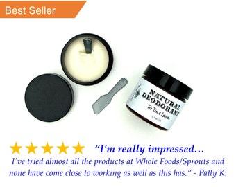 Natural Deodorant - Tea Tree & Lavender, Long Lasting handmade, organic deoderant that works, all-natural