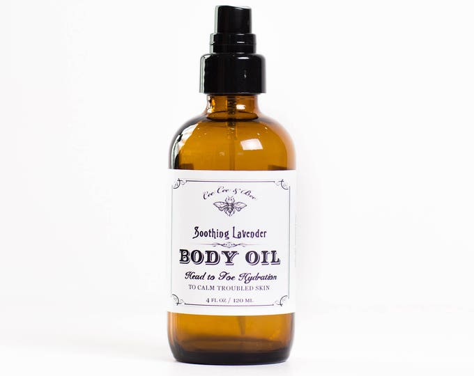 Soothing Lavender Face and Body Serum ~ light lavender oil for head to toe hydration