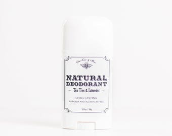Natural Deodorant Stick - Lavender & Tea Tree - Silky Smooth - 24 Hour Protection