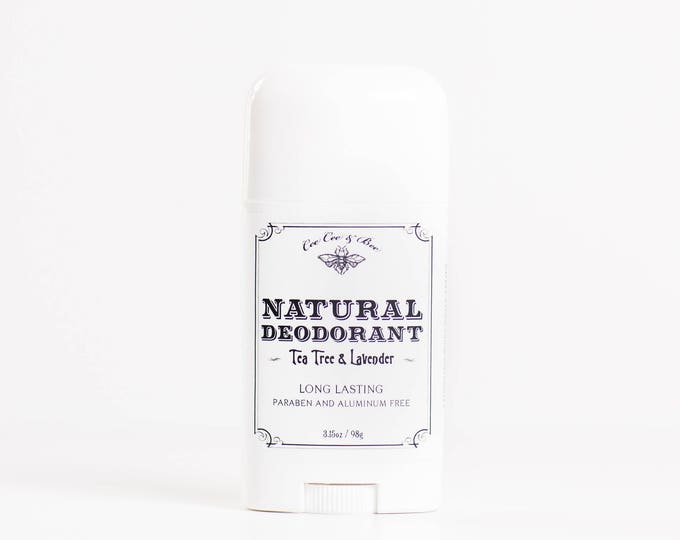Natural Deodorant Stick - Lavender & Tea Tree