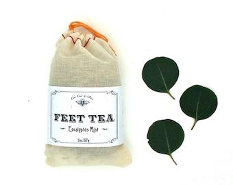 Feet Tea - Refreshing & Deodorizing Foot Soak for soft sandal ready feet for summertime