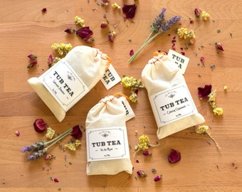 Tub Tea U Pick 3, Gifts that pamper ~Chamomile, Rose, Lavender and more