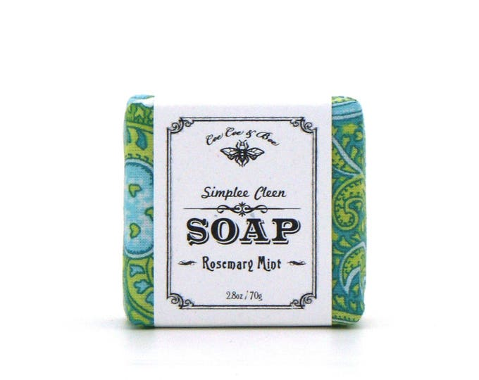 Rosemary Mint Simplee Cleen Fabric Wrapped Soap 2.8oz