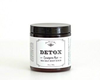 Detox Sea Salt Body Scrub ~ Eucalyptus Mint with Bentonite Clay