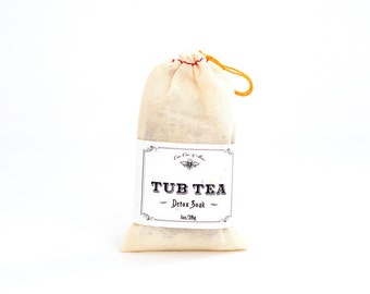 Detox Soak - Tub Tea with Ginger, Rosemary, Peppermint, Helichrysum