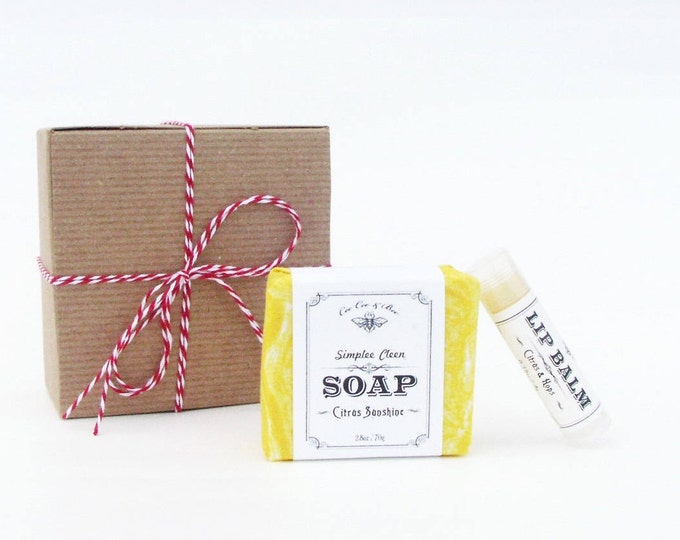Citrus Sunshine Gift Pack - Lip Balm & Soap