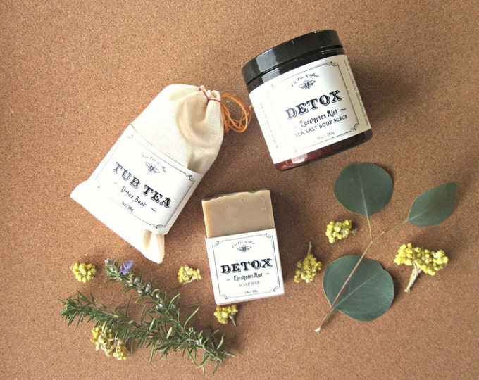 Detox Fresh Start Set - Body Scrub + Tub Tea + Soap