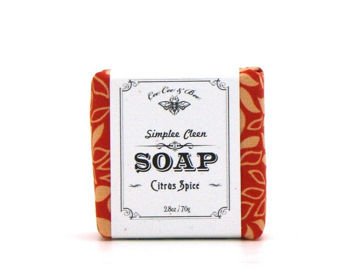 Orange Spice Soap, Simplee Cleen Soap 2.8oz