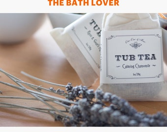 Lemon Chamomile Tub Tea, Bath Soak