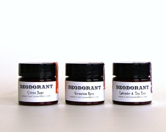Mini Natural Deodorant Single - try the natural deoderant that works! You pick scent...
