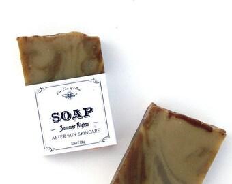 Summer Nights Aloe Vera Handmade Soap Bar 3.8oz // gift for the beach bum