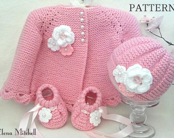 2000ad5a7a6f Knitting PATTERN Baby Jacket Baby Cardigan Garter Stitch Baby