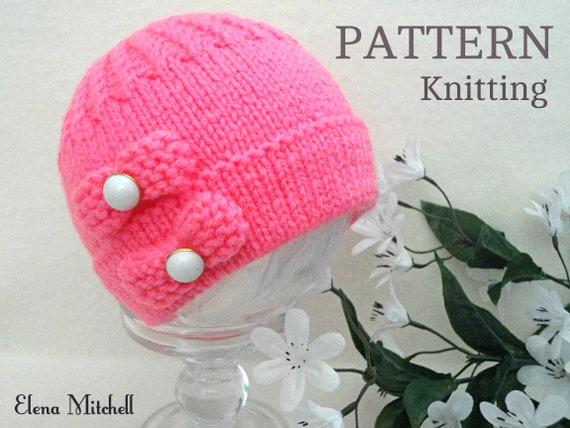 Knitting Pattern Baby Hat Baby Beanie Knitted Baby Cap Etsy