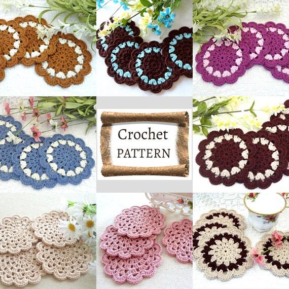 Crochet Pattern Crochet Placemat Coaster Pattern Home Decor Etsy