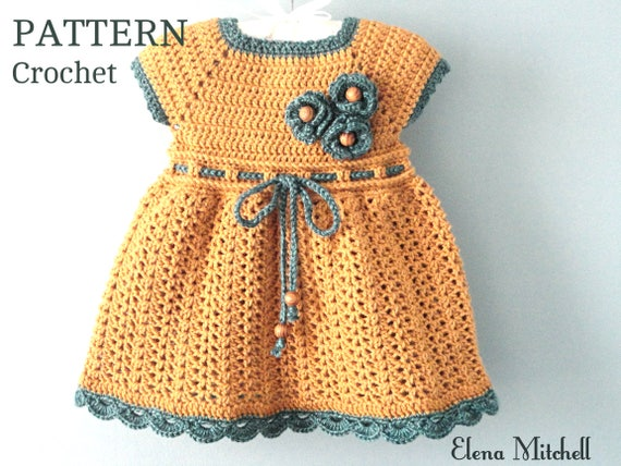 Crochet Pattern Baby Dress Baby Girl Pattern Crochet Newborn Etsy