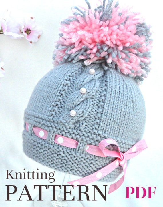 Knitting P A T T E R N Knitting Baby Hat Baby Patterns Etsy