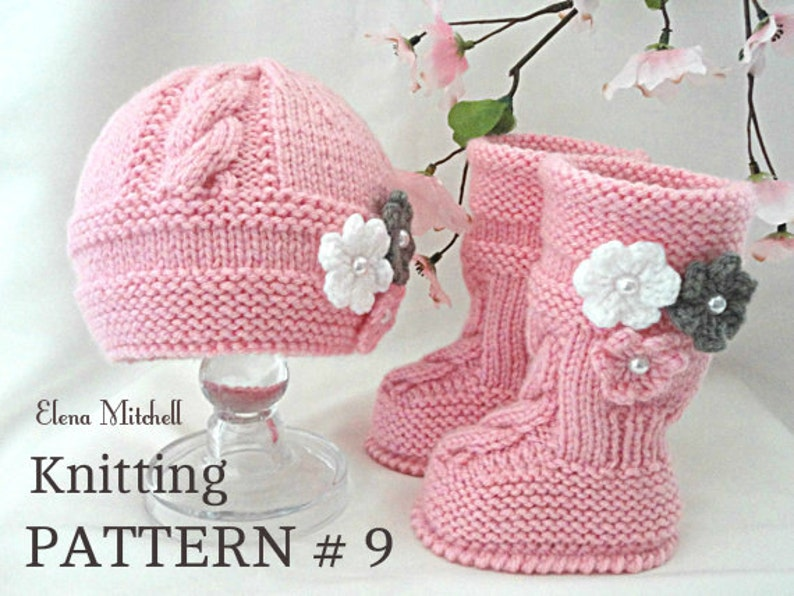 c9a440343fc4 Knitting PATTERN Baby Set Babies Newborn Infant Baby Shoes