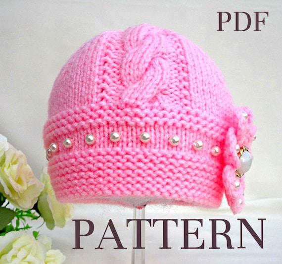 Knitting Pattern Baby Hat Baby Beanie Knit Pattern Infant Baby Etsy