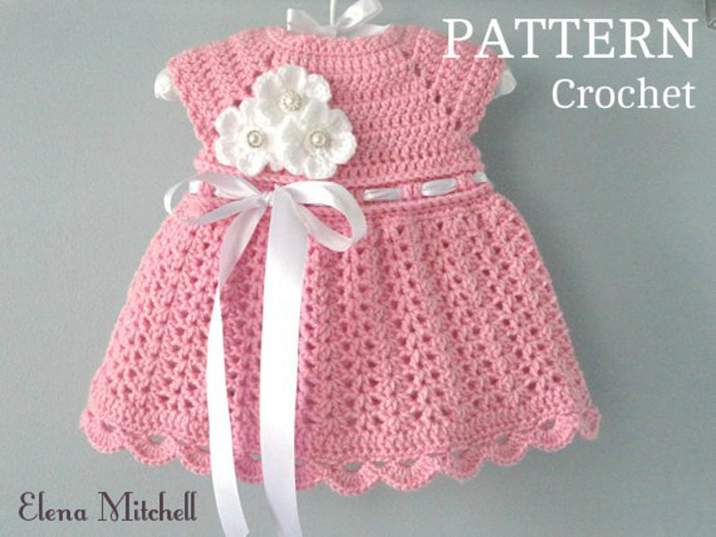 Crochet Pattern Baby Dress Baby Girl Pattern Crochet Newborn Etsy