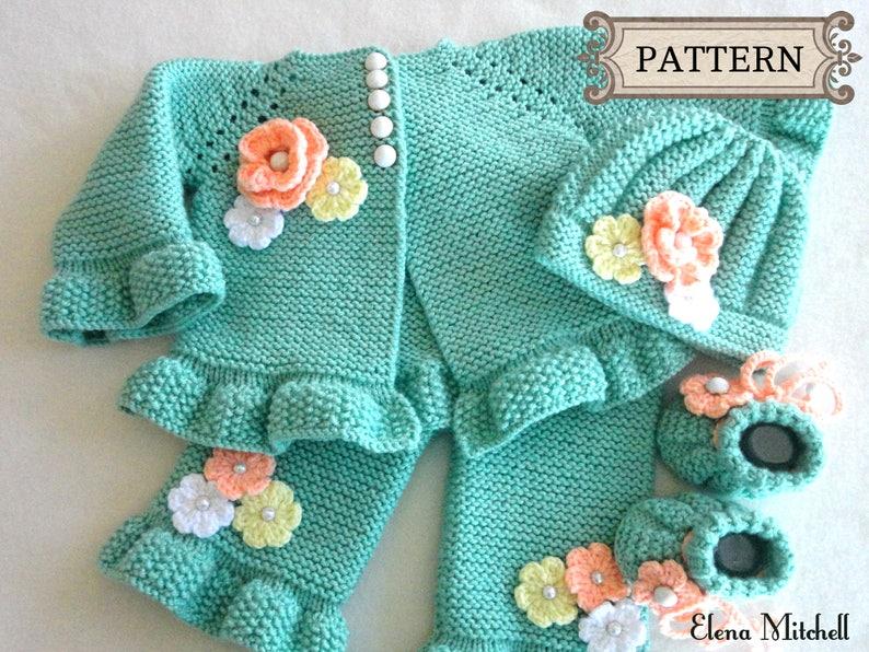 ccf433f90e4b Knitting PATTERN Baby Cardigan Baby Jacket Baby Pants Baby