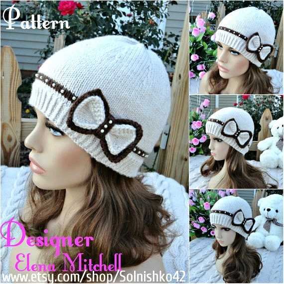 Knitting Pattern Hat Girl Pattern Knit Womens Hat Knitted Hats  fd50876826