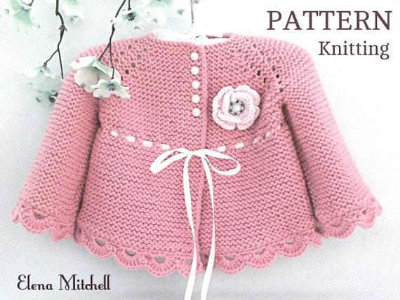 "Vintage Knitting PATTERN to make Doll Clothes Sweater Cardigan Cap 10-16/""BabySet"