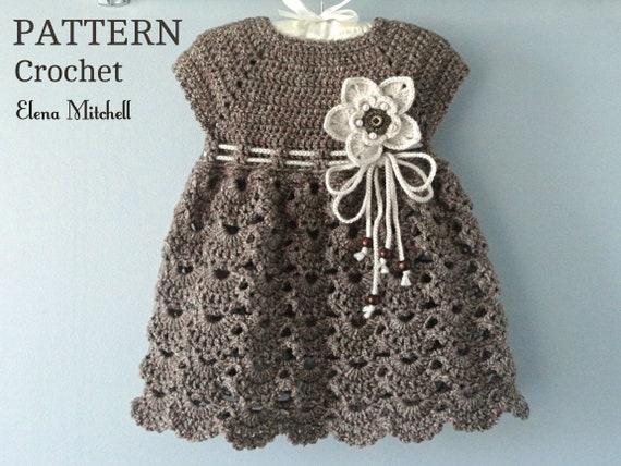 a914f2932 Crochet PATTERN Baby Dress Baptism Dress Pattern Crochet