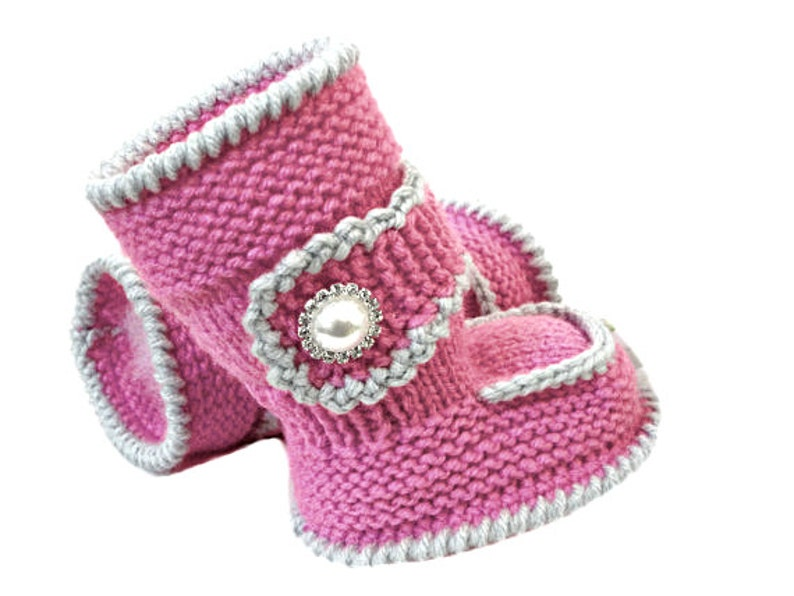 Knitting PATTERN Baby Booties Baby Shoes Knit Pattern Baby ...