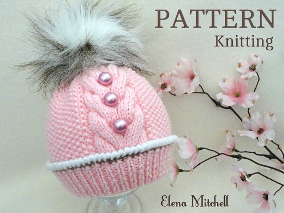 Knitting Pattern Baby Hat Patterns Baby Beanie Baby Boy Baby  2c2cbd678b1
