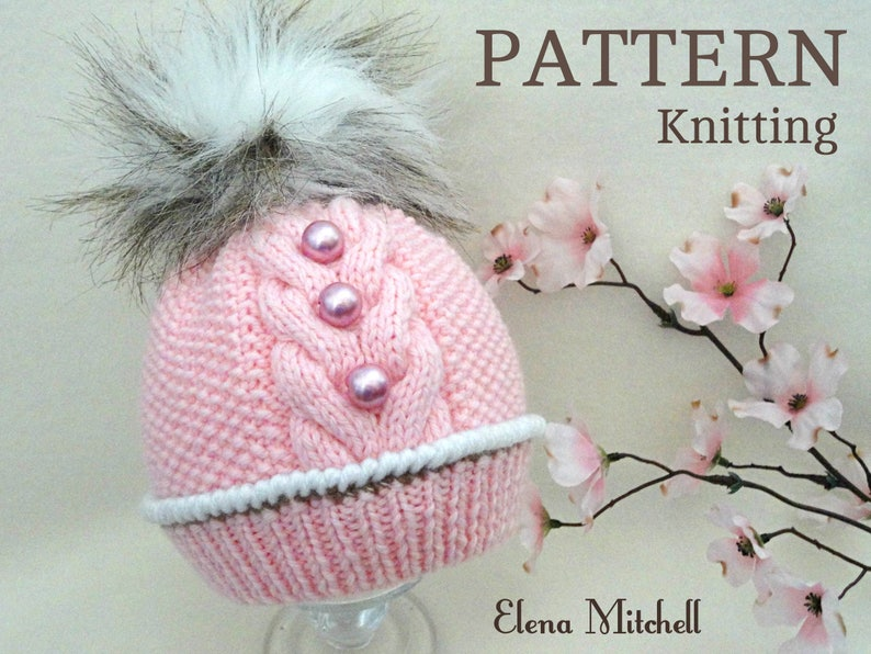 Knitting Pattern Baby Hat Patterns Baby Beanie Baby Boy Baby  83538394a2f