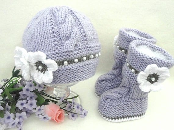 Knitting Pattern Baby Booties Baby Shoes Patterns Knit Baby Etsy